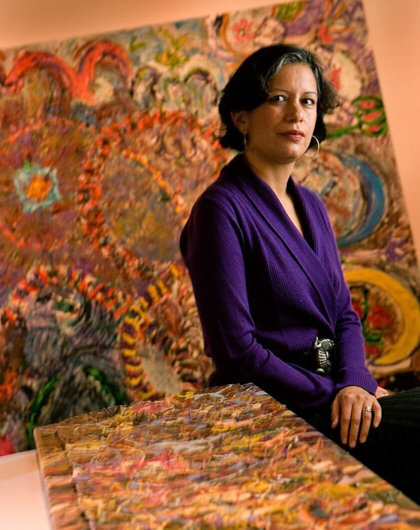 """Alessandra Moctezuma tries to help her art students """"see there is not just one way of doing things."""""""