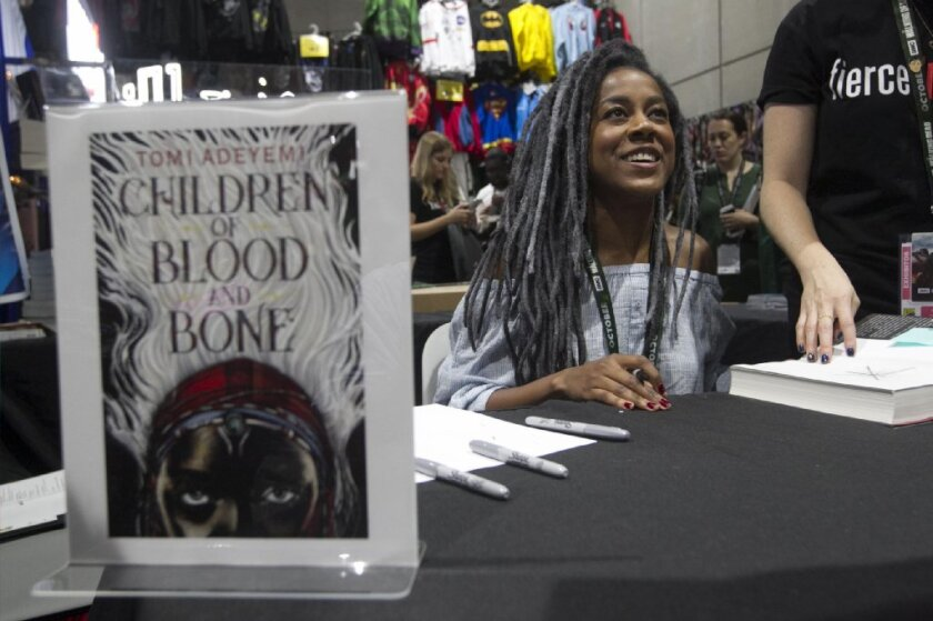 Tomi Adeyemi at Comic-Con in 2018.