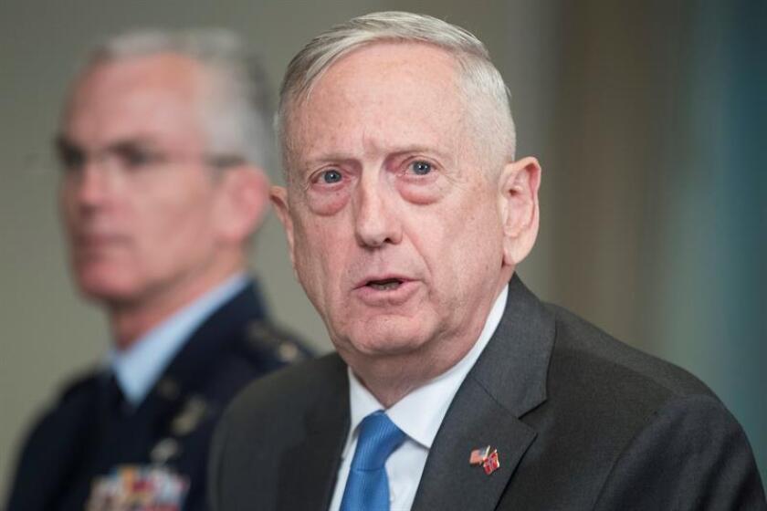 """El secretario del Departamento de Defensa, James Mattis, no descartó que se retomen el próximo año las maniobras conjuntas con Corea del Sur, que fueron suspendidas el pasado mes de junio como gesto """"de buena voluntad"""". EFE/Archivo"""
