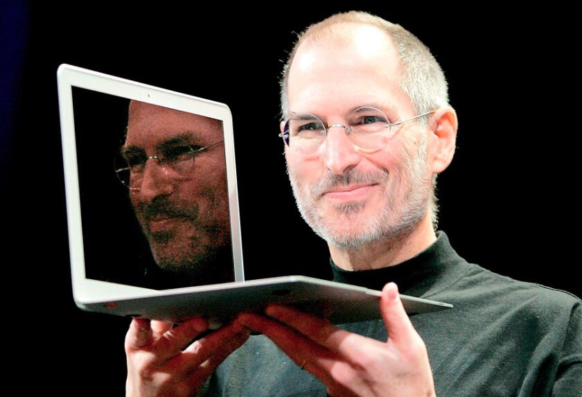 Glory days? Steve Jobs introduces the then-new MacBook Air in 2008. But even he had trouble keeping Apple's software teams up to snuff.