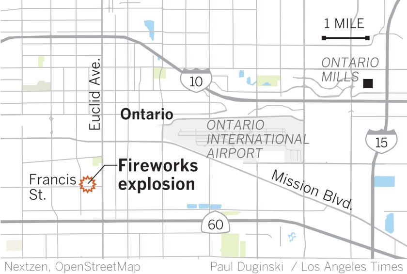 Two Dead After Fireworks Explosion At Ontario House The San Diego Union Tribune