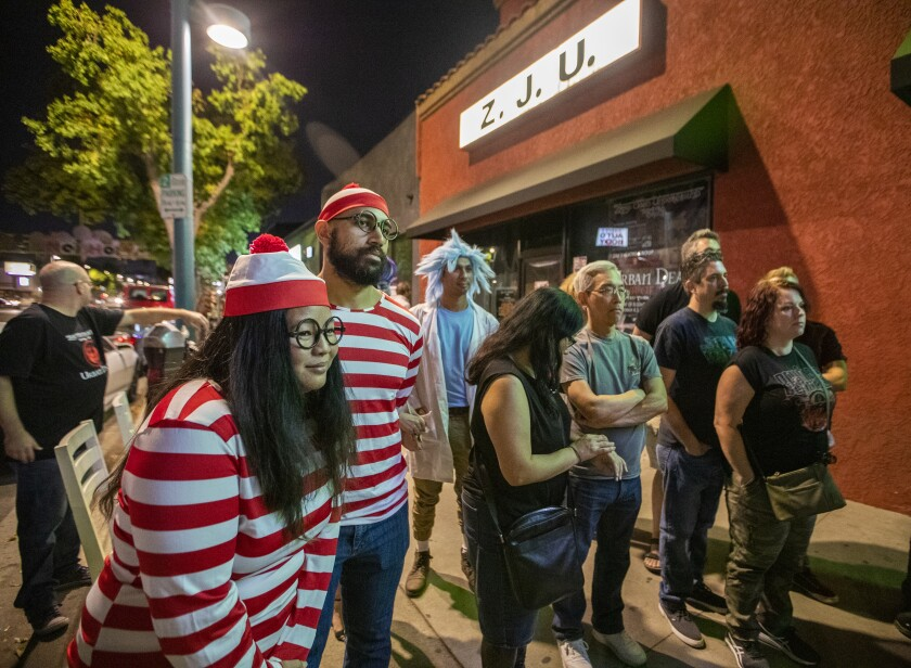 Crowd lines up at Zombie Joe's