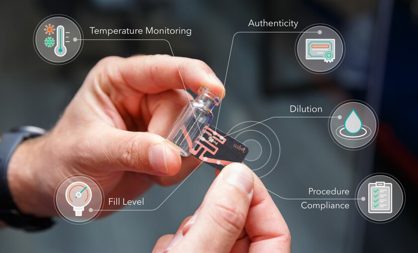 Wiliot's Bluetooth sensor tags track temperature, motion and other readings.