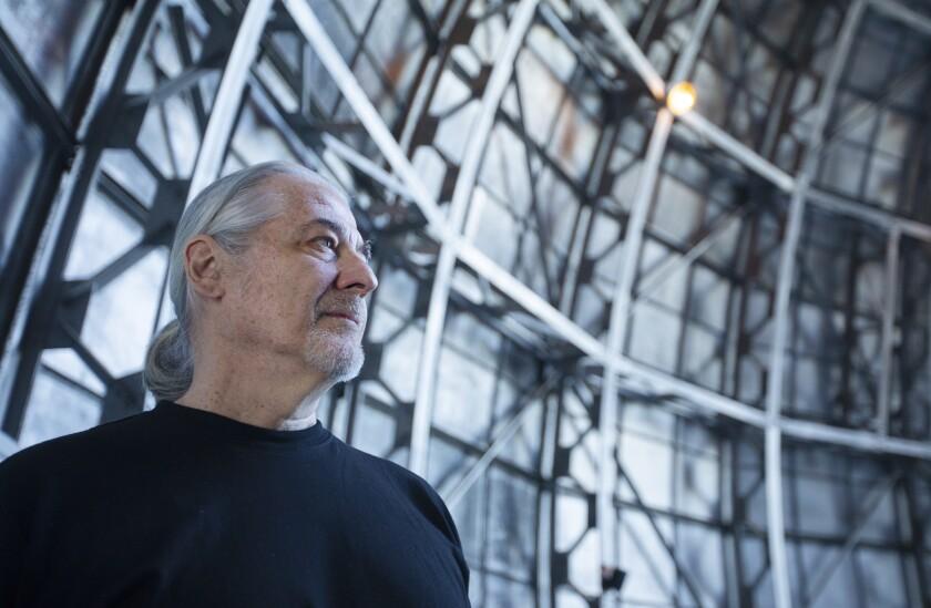 Sound artist Jeff Talman at Mt. Wilson Observatory