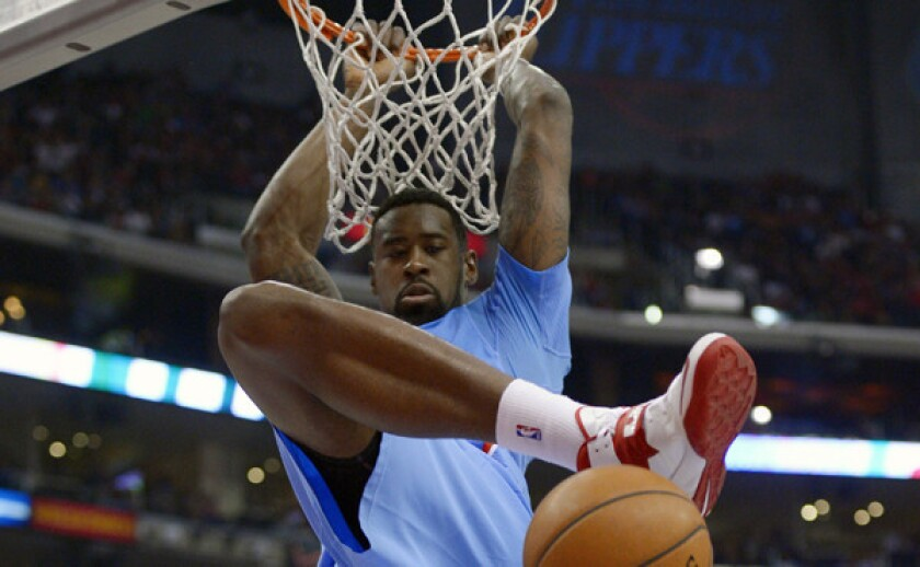 Clippers center DeAndre Jordan dunks during a Dec. 1 loss to the Indiana Pacers. Jordan is having an All-Star-caliber season.