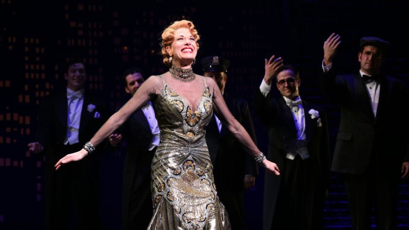 """Mazzie during the Broadway Opening Night Performance Curtain Call for ''Bullets Over Broadway'"""" at the St. James Theatre on April 10, 2014 in New York City."""