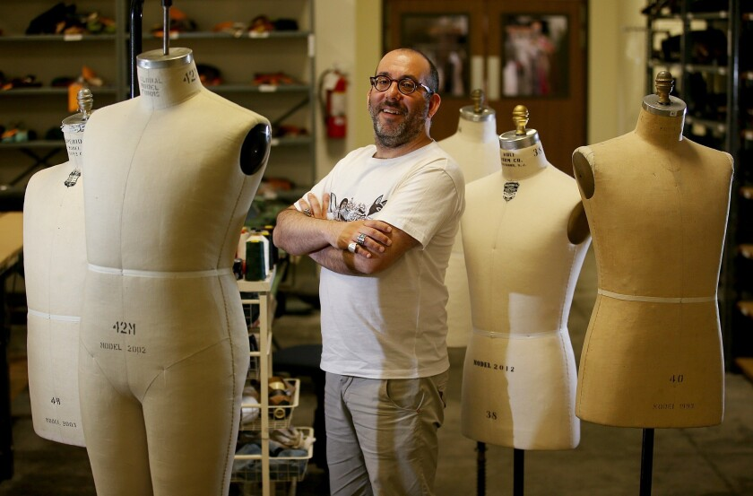 "Barrie Kosky in the L.A. Opera costume shop in 2013, when he directed ""The Magic Flute. """