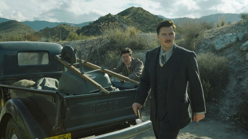 """Jack Reynor as Jack Parsons, right, and Peter Mark Kendall as Richard Onsted in the CBS All Access series """"Strange Angel."""""""