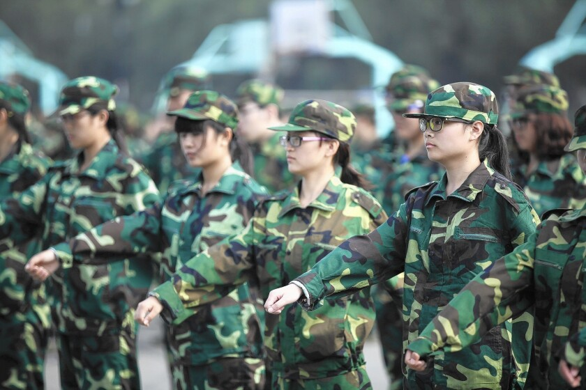 Forced military training for Chinese students encounters resistance