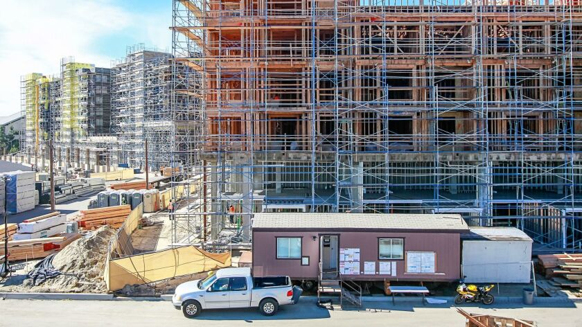 SAN DIEGO, CA January 24th, 2019 | These are some of the 608 rental units under construction on Thur