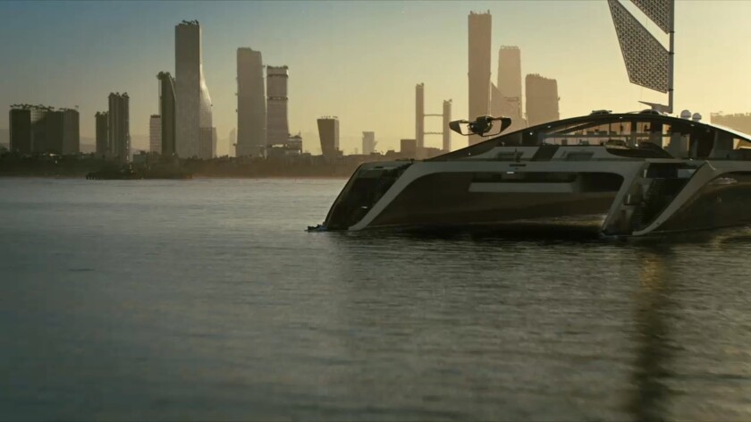"""The Los Angeles skyline circa 2058, as imagined by the team behind """"Westworld."""""""