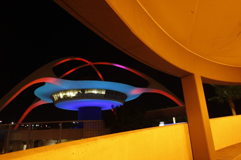The Theme Building at Los Angeles International Airport awaits a new restaurant tenant.