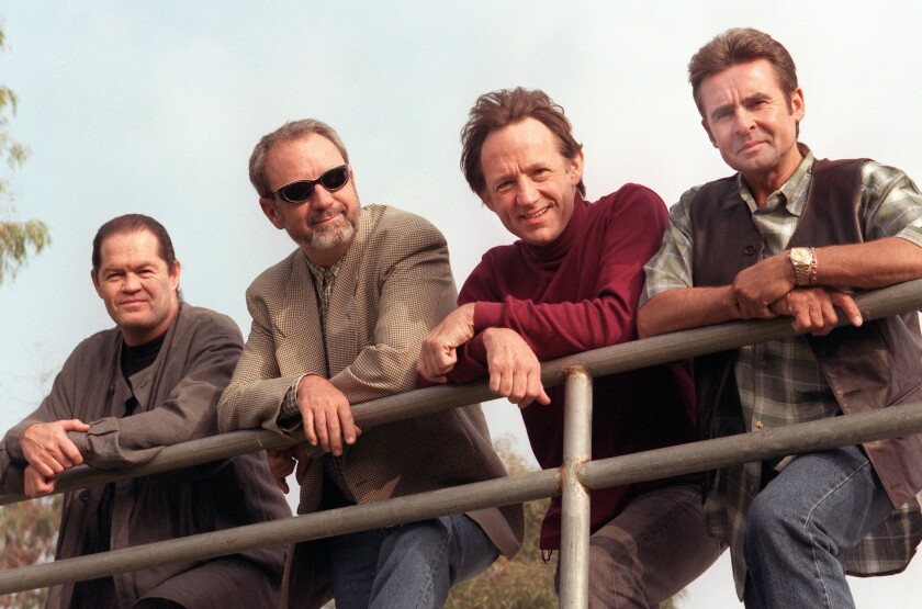 The Monkees: From left, Micky Dolenz, Michael Nesmith, Peter Tork and Davy Jones, who died in 2012, are seen during a 30th anniversary reunion in 1996.