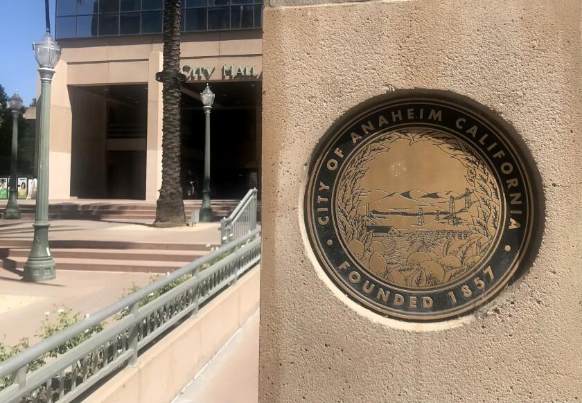 Outside Anaheim City Hall