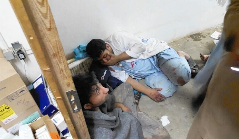 Bombing casualties at Kunduz hospital
