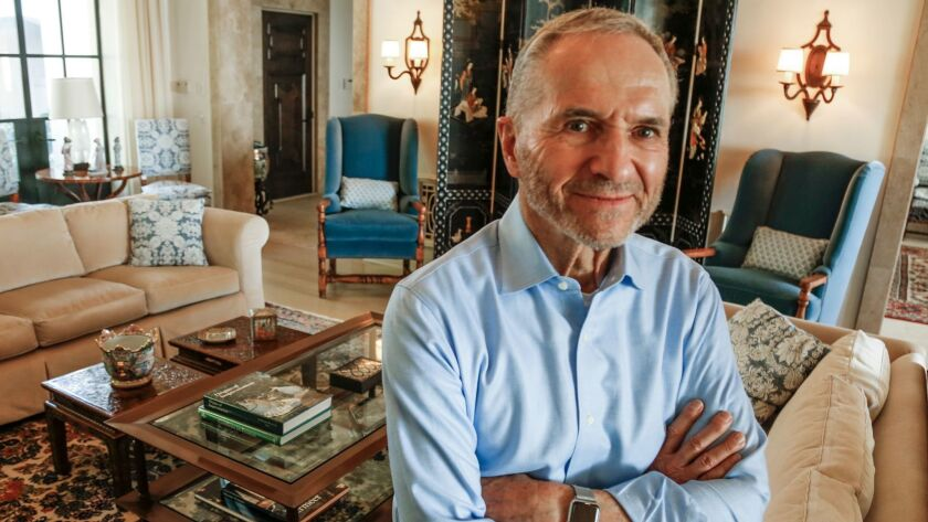 Edward O. Thorp, a renowned gambling and investment guru, is shown in his Newport Beach home.