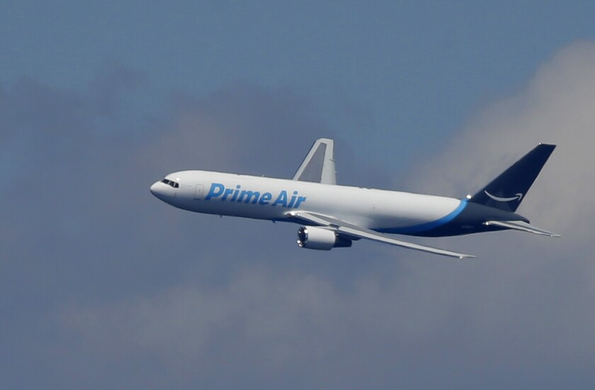 One of the Boeing 767s in the Amazon Air delivery fleet.