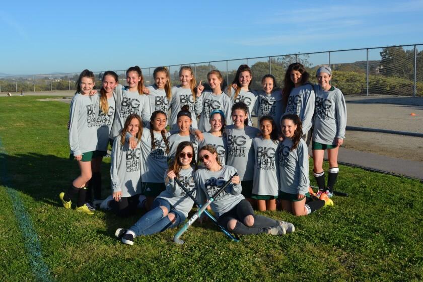 Carmel Valley Middle School field hockey champions.
