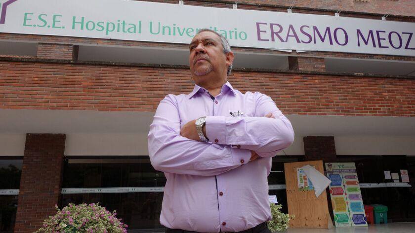 ONE TIME USE - Juan Agustin Ramirez, director of Erasmo Meoz University Hospital, CUcuta's largest,