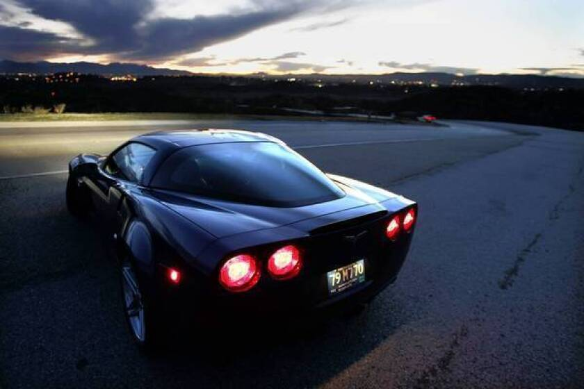 The current Corvette debuted in 2005. Above, the 2006 Corvette Z06 on Woolsey Canyon Road in Chatsworth. It had a top speed of 198 mph.