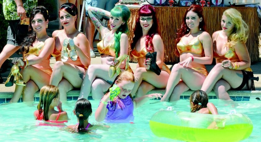 Poolside lovelies at Tiki Oasis.