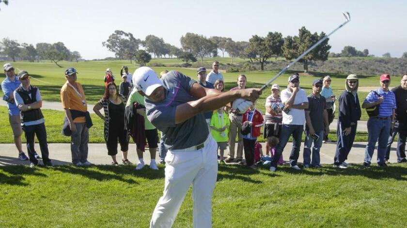 Is Jhonattan Vegas working his waggle for the crowd? (Hayne Palmour IV)