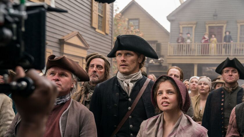 "Jamie (Sam Heughan) and ""Outlander"" come to the Colonies in Season 4."