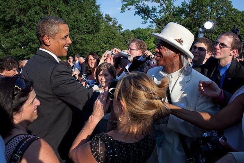 Nathaniel Ayers meets President Obama
