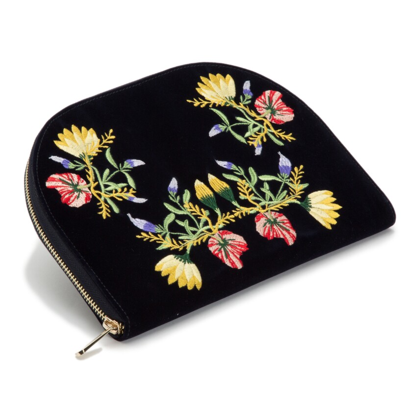 Velvet jewelry case