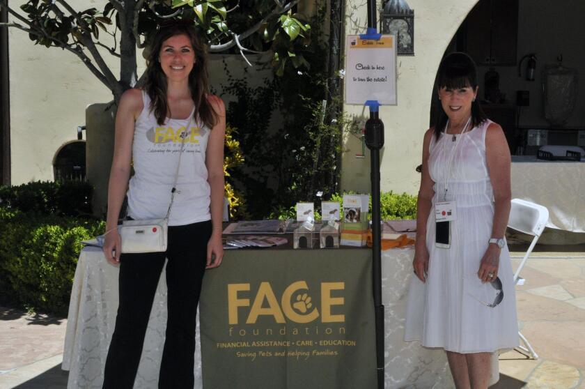 FACE Executive Director Brooke Haggerty, hostess Cini Robb