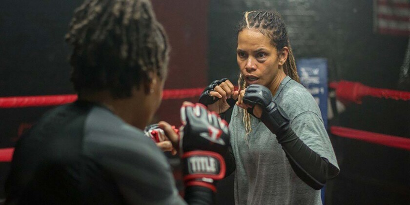 """Women MMA fighters in """"Bruised,"""" Halle Berry's directorial debut."""
