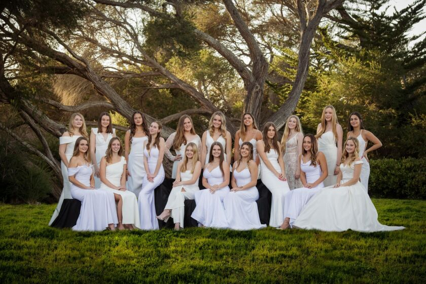 The 2020 senior class of the San Diego chapter of the National Charity League.