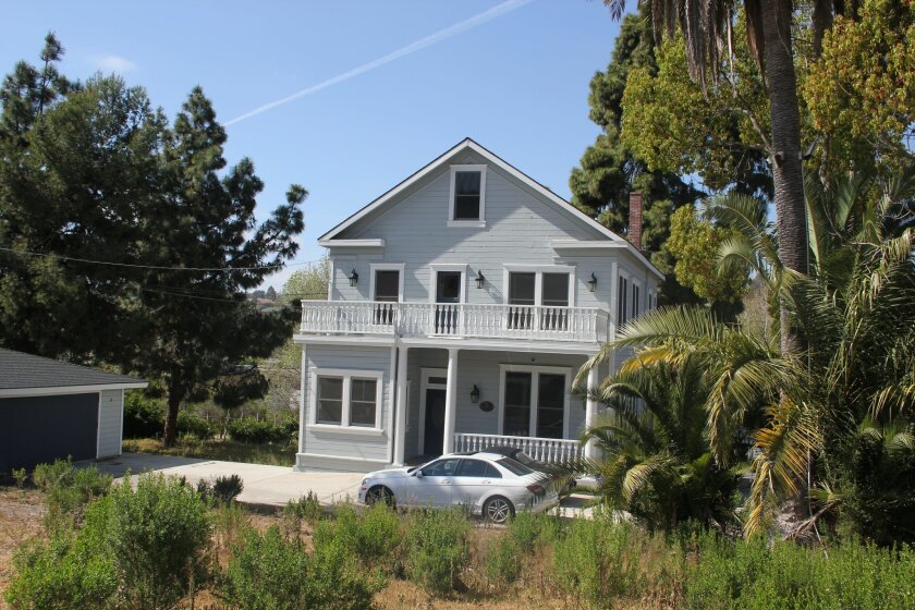 Cal Coast Academy would like to add a classroom building to the 140-year-old home it owns on Clews Ranch Road near the Carmel Valley Restoration and Enhancement Project trail. Photo by Karen Billing.
