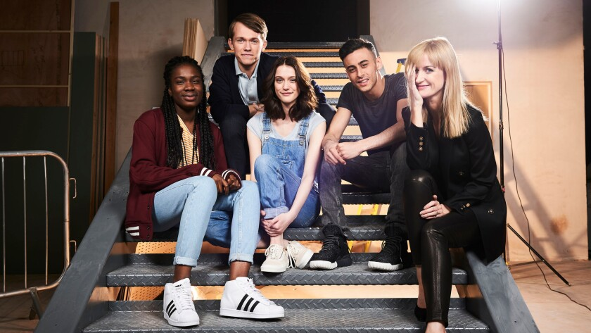 """Vivian Oparah, from left, Greg Austin, Sophie Hopkins, Fady Elsayed and Katherine Kelly of BBC America's """"Class."""""""