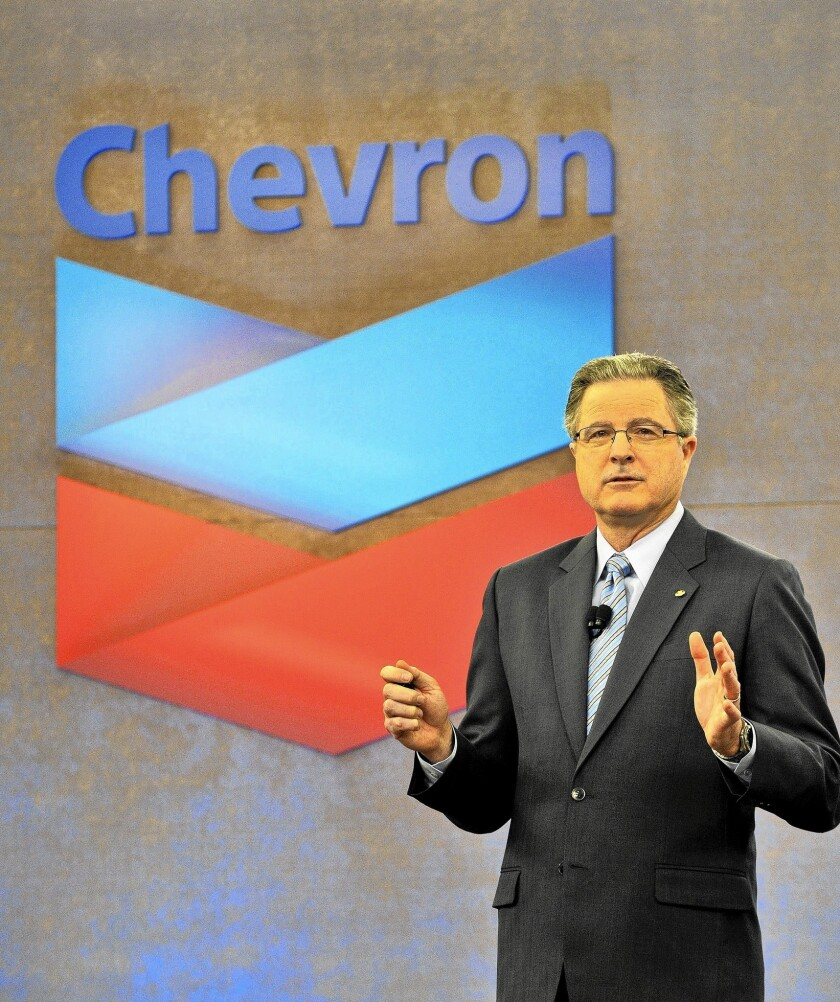 In August, Chevron reported $57.9 billion in revenue for the second quarter, up from $57.4 billion a year earlier. Net income rose to $5.7 billion from $5.4 billion a year earlier. Above, Chief Executive John Watson.