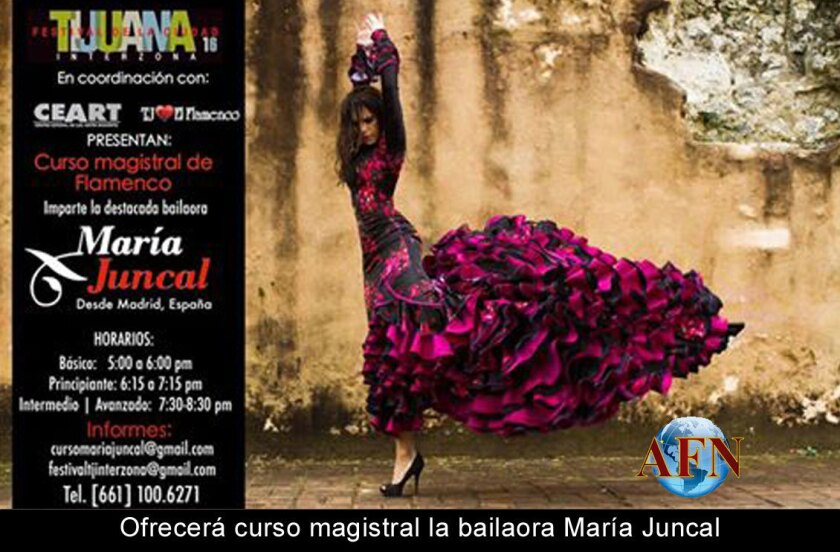Ofrecerá curso magistral la bailaora María Juncal