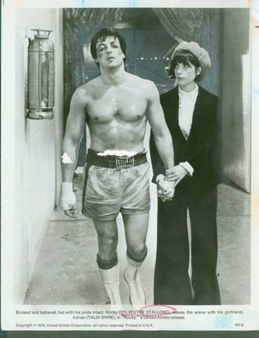 """Shire and Sylvester Stallone in 1976's """"Rocky."""""""