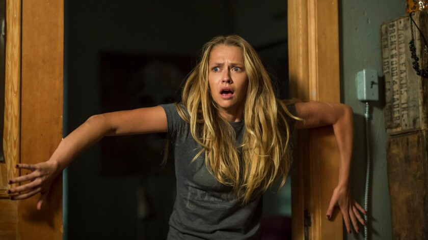"""Teresa Palmer in the movie """"Lights Out."""""""