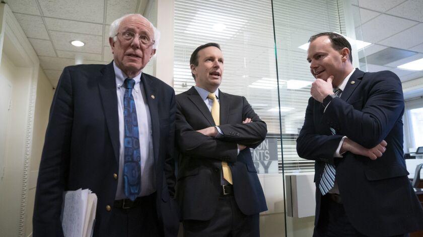 Bernie Sanders, Chris Murphy, Mike Lee