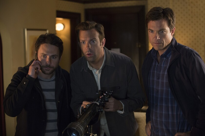 "Charlie Day, Jason Sudeikis and Jason Bateman in ""Horrible Bosses 2."""