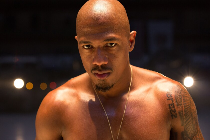 """Nick Cannon as the character Chi-Raq in Spike Lee's film """"Chi-Raq."""""""