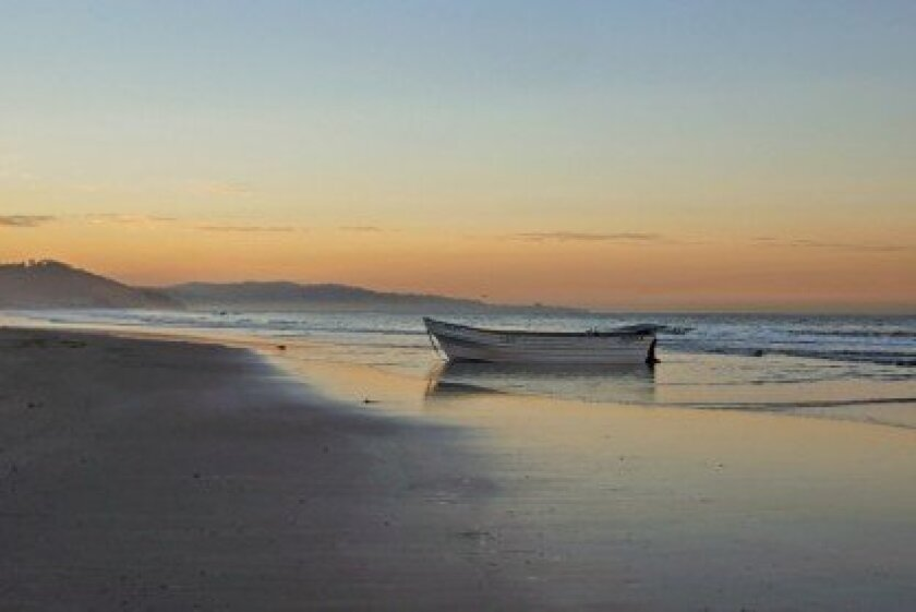 The Panga boat at Torrey Pines State Beach. Photo by Bill Morris