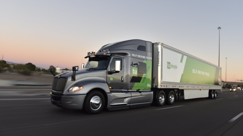 TuSimple makes self-driving semi-trucks and the AI-driven software that runs them.