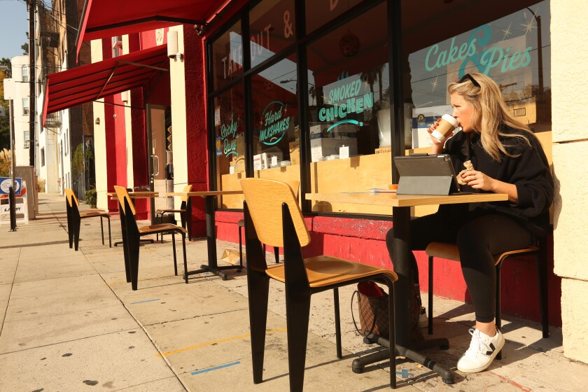 Kaylee Anchulis enjoys breakfast at All Day Baby in Silver Lake