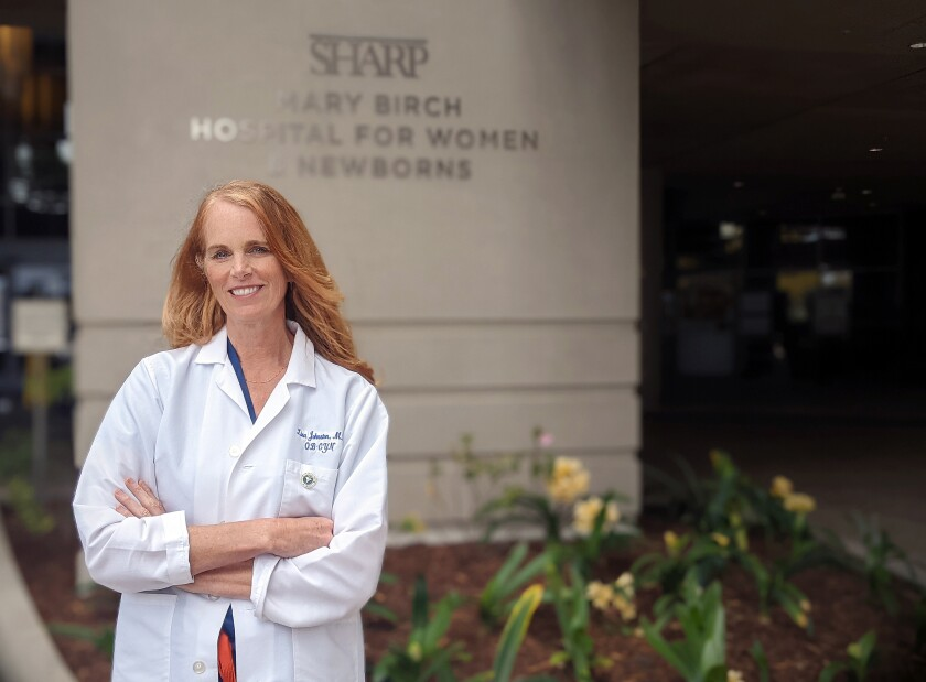 Dr. Lisa Johnston chief medical officer at Sharp Mary Birch Hospital for Women & Newborns.