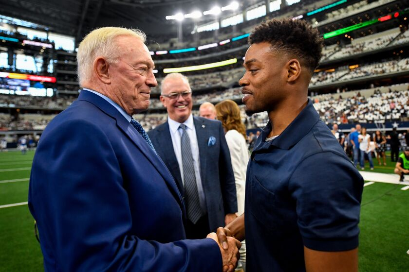 Jerry Jones with Errol Spence on 9-18-19 during Giants-Cowboys game at AT&T Stadium -- (Photo from Jeremiah Jhass).jpeg