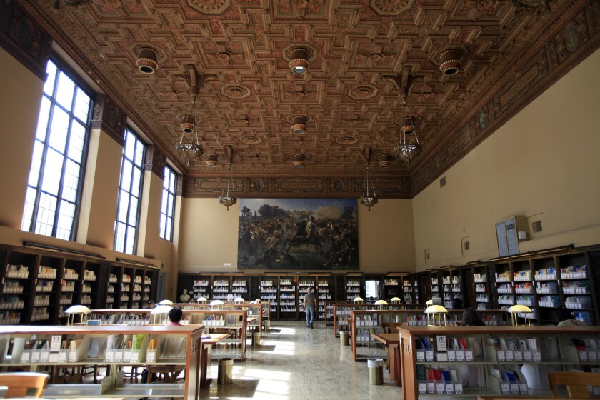 The Roger W. Heyns Reading Room at UC Berkeley. Applicants to the campus faced tough odds.