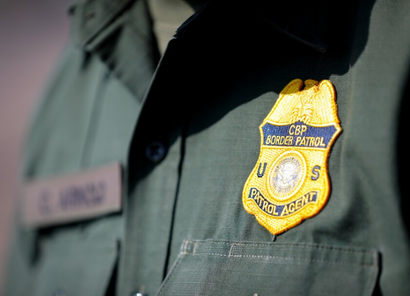 A border patrol agent on duty.