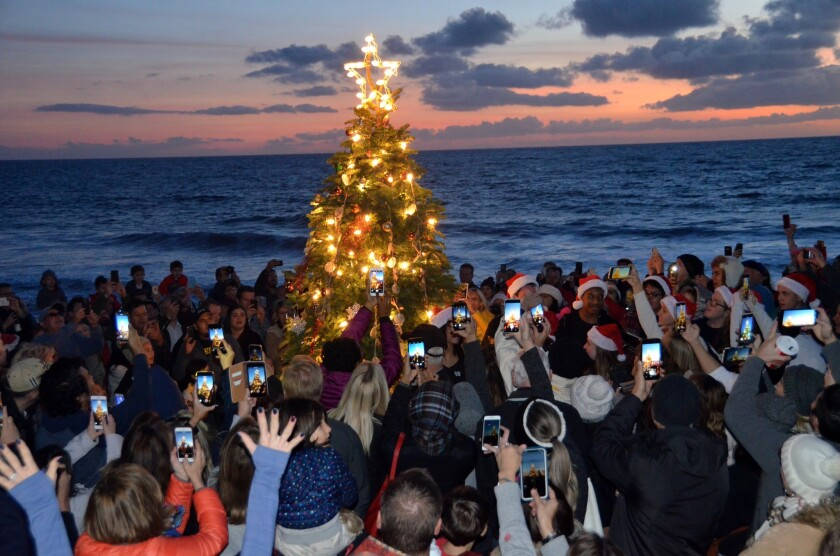 Annual Christmas celebration at Crystal Cove State Park