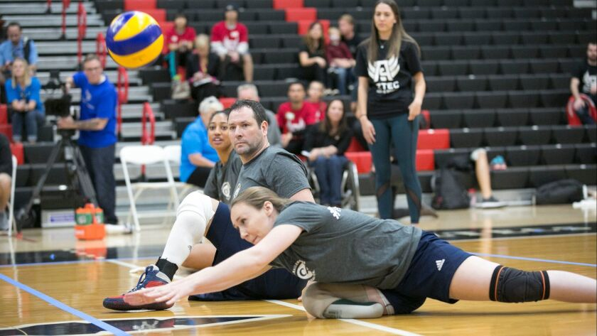 Adaptive sports demonstration organized by Paralympian and SDSU grad Akhell Whitehead